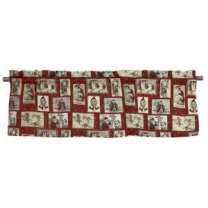 Julrutor Röd Veckad gardinkappa